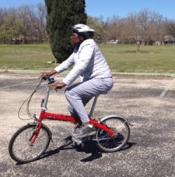 Comfort riding a folding bike