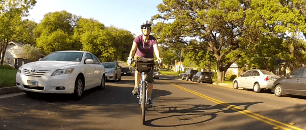 Cycling in neighborhood traffic