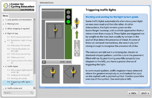 Triggering traffic lights while on your bike