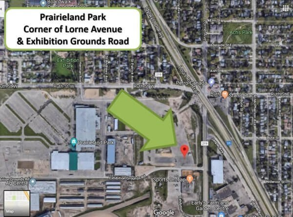 Prairieland Park -- Corner of Lorne Avenue and Exhibition Grounds Road