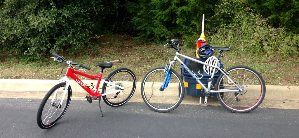 "No need to pick up and drop off a rental--we bring along the bike(s) for kids' lessons and for adults up to 5'2""!"