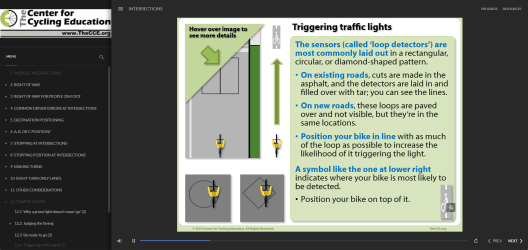Trigger an unresponsive traffic light on your bike. Experienced rider? Make your next ride even better. New to riding in traffic? Put years of experience in your tool kit right now.