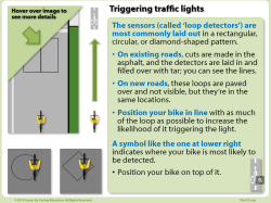 how a cyclist can trigger a traffic light